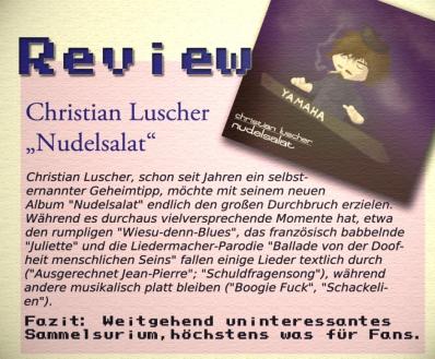"Review des Albums ""Nudelsalat"", SMACK Magazin 12/2009"